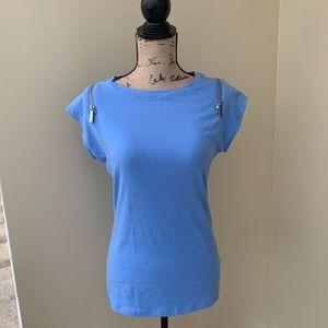 Michael Kors blue tee shirt